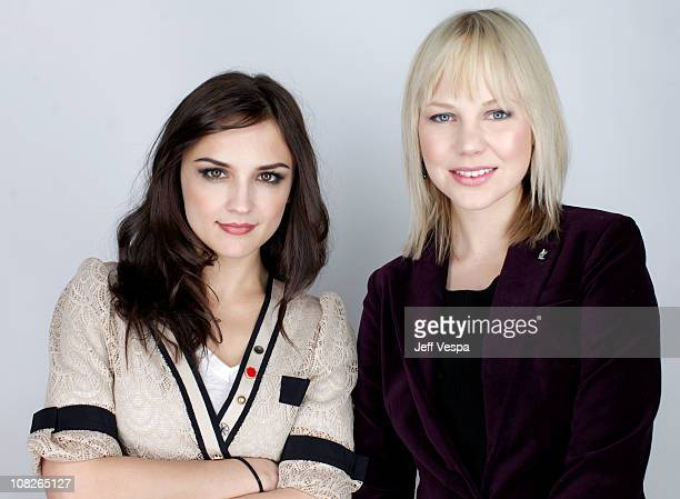 Actresses Rachael Leigh Cook and Adelaide Clemens pose for a portrait during the 2011 Sundance Film Festival at the WireImage Portrait Studio at The...
