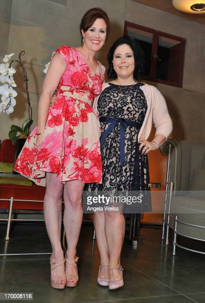 Actresses Rachael MacFarlane and Alex Borstein attend Best of Santa Barbara in Los Angeles on June 5 2013 in Santa Monica California
