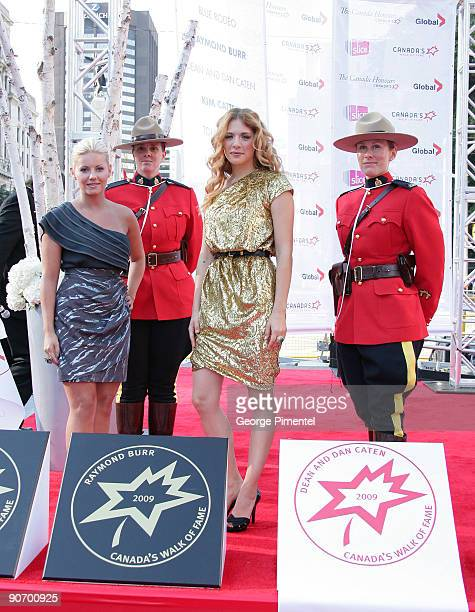 Actresses Rachel Lefevre and Elisha Cuthbert attend The Four Season Centre of the Performing Arts on September 12 2009 in Toronto Canada