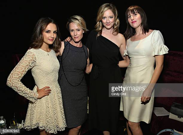 Actresses Rachel Leigh Cook Mary Stuart Masterson and Judy Greer and filmmaker Ry RussoYoung attend the 2016 Tribeca Film Festival Awards Night on...