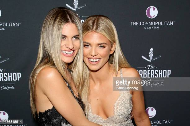 Actresses Rachel McCord and AnnaLynne McCord attend the grand opening of The Barbershop Cuts Cocktails at The Cosmopolitan of Las Vegas on March 16...