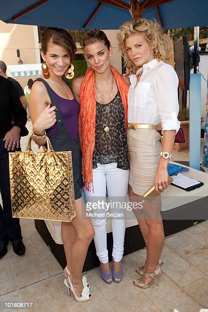 Actresses Rachel McCord AnnaLynne McCord and Angel McCord attend Cesar Canine Cuisine at Kari Feinstein MTV Movie Awards Style LoungeDay 1 at Montage...