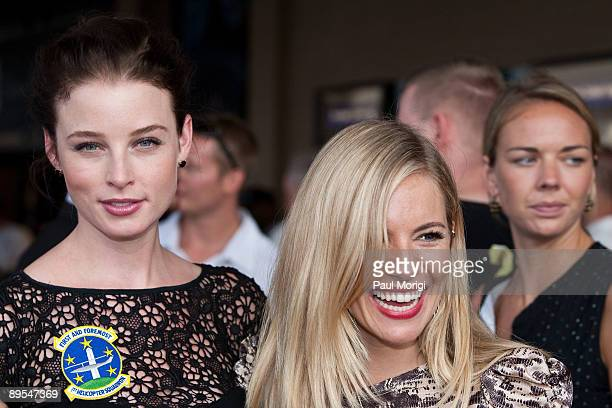 Actresses Rachel Nichols and Sienna Miller attend a special screening of GI Joe The Rise of Cobra at Andrews Air Force Base on July 31 2009 in Camp...