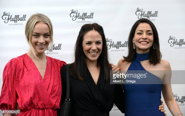 Actresses Rachel Skarsten Anna Silk and Emmanuelle Vaugier from 'Lost Girl' at The 2017 Fluffball held at Lombardi House on November 4 2017 in Los...