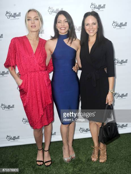 Actresses Rachel Skarsten Emmanuelle Vaugier and Anna Silk from 'Lost Girl' at The 2017 Fluffball held at Lombardi House on November 4 2017 in Los...
