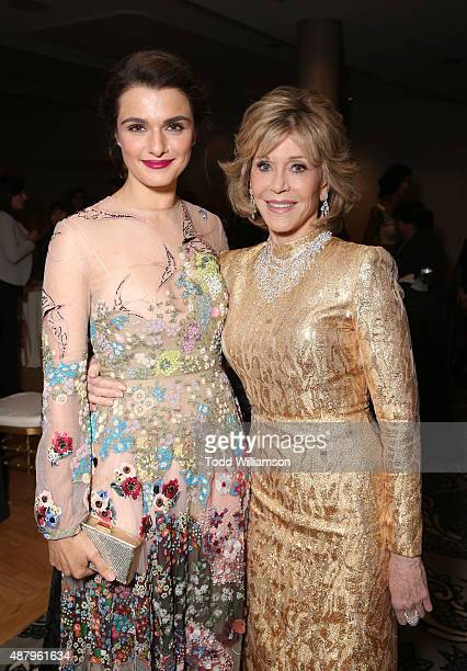 Actresses Rachel Weisz and Jane Fonda attend Fox Searchlight's 'Youth' Toronto International Film Festival special presentation on September 12 2015...