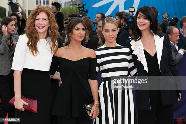 Actresses Rachelle Lefevre Geraldine Nakache Alice Isaaz and Zabou Breitman attend the 41st Deauville American Film Festival Opening Ceremony on...