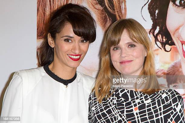 Actresses Rachida Brakni and Isabelle Carre attend the 'Cheba Louisa' Premiere on May 6 2013 in Paris France
