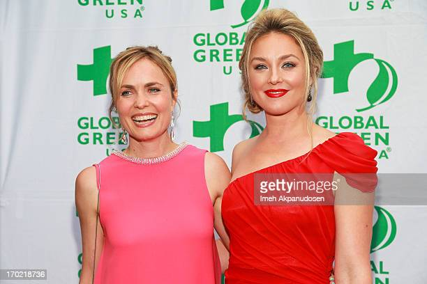 Actresses Radha Mitchell and Elisabeth Rohm attend the Global Green USA's Annual Millennium Awards at Fairmont Miramar Hotel on June 8 2013 in Santa...