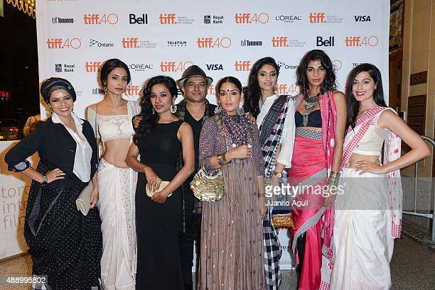 Actresses Rajshri Deshpande SarahJane Dias Tannishtha Chatterjee director Pan Nalin actresses Sandhya Mridul Pavleen Gujral Anushka Manchanda and...