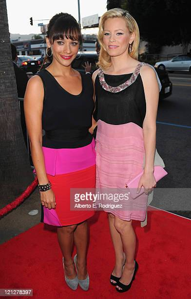 Actresses Rashida Jones and Elizabeth Banks arrive to the premiere of The Weinstein Company's Our Idiot Brother on August 16 2011 in Los Angeles...