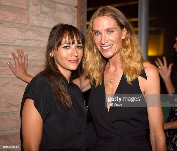 Actresses Rashida Jones and Kelly Lynch attend the Billboard Jimmy Choo Music's Men of Style event at a Private Residence on August 28 2015 in Los...