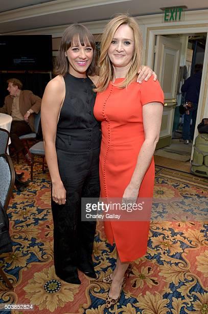 Actresses Rashida Jones and Samantha Bee attend the 2016 TCA Turner Winter Press Tour Presentation at the Langham Hotel on January 7 2016 in Pasadena...