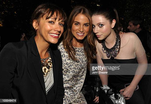 Actresses Rashida Jones, Nikki Reed and Michelle Trachtenberg attend the BlackBerry Torch from AT&T U.S. Launch Party on August 11, 2010 in Los...