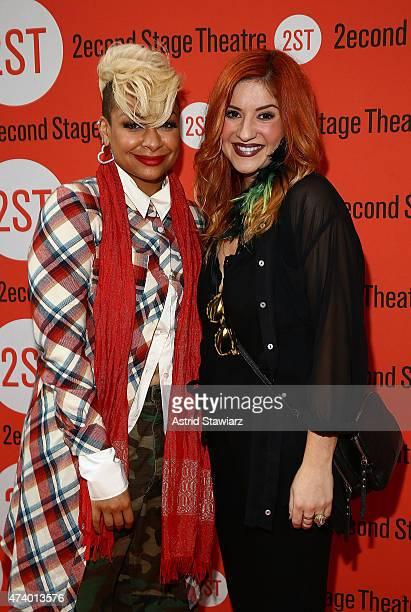 Actresses RavenSymone and Anneliese van der Pol attend 'The Way We Get By' opening night arrivals at Second Stage Theatre on May 19 2015 in New York...