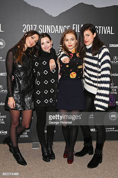 Actresses Rebecca Dayan Eline Powell Morgan Saylor and Margaret Qualley attend the Novitate premiere during day 2 of the 2017 Sundance Film Festival...