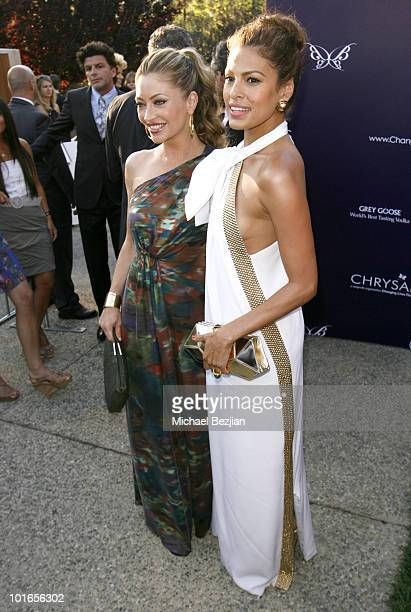Actresses Rebecca GayheartDane and Eva Mendes arrive at the 9th Annual Butterfly Ball on June 5 2010 in Los Angeles California