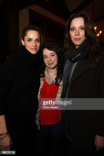 Actresses Rebecca Hall Sarah Steele and Rebecca Hall attend the Skintimate Screening Series 'Please Give' Premiere After Party on January 22 2010 in...