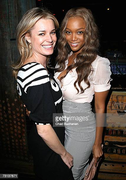 Actresses Rebecca Romijn and Tyra Banks attend the I Have a Dream Foundation Los Angeles Dream Keeper Awards at the House of Blues on January 28 2007...