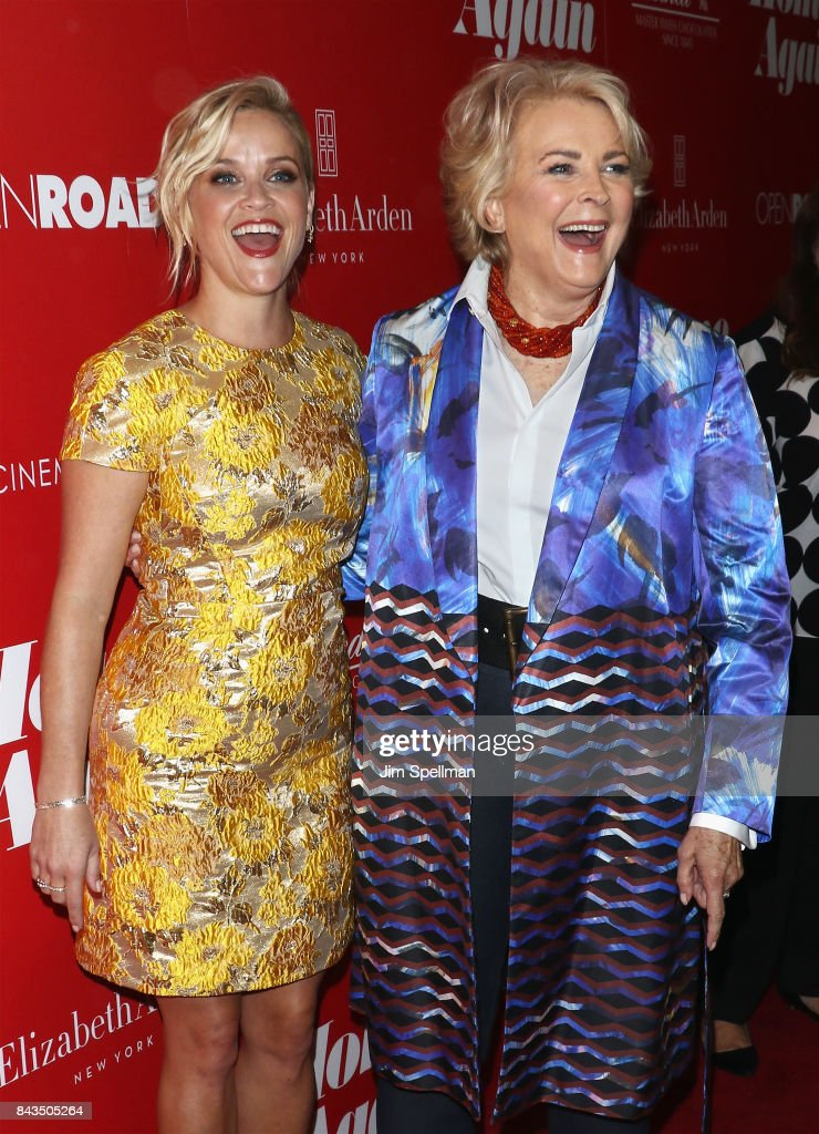 Actresses Reese Witherspoon (L) and Candice Bergen attend the screening of Open Road Films' 'Home Again' hosted by The Cinema Society with Elizabeth Arden and Lindt Chocolate at The Paley Center for Media on September 6, 2017 in New York City.
