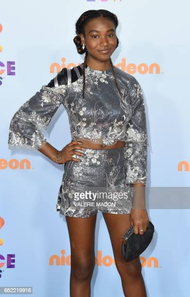 Actresses Reiya Downs arrives for the 30th Annual Nickelodeon Kids' Choice Awards March 11 2017 at the Galen Center on the University of Southern...