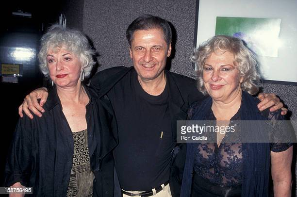 Actresses Renee Taylor and Bea Arthur and actor Joseph Bologna attending the opening of Bermuda Ave Triangle on October 1 1995 at the Tiffany Theater...