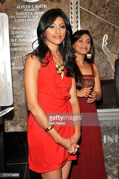 Actresses Reshma Shetty and Rani Mukherjee visit The Empire State Building on August 19 2011 in New York City