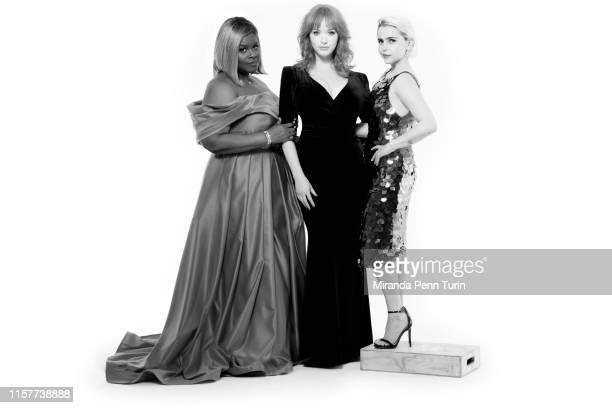 Actresses Retta Christina Hendricks and Mae Whitman are photographed for Emmy Magazine on March 15 2019 in Los Angeles California PUBLISHED IMAGE