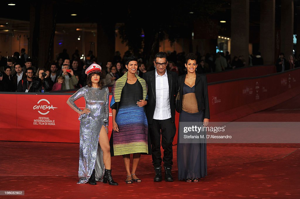 Actresses Rii Sen,Tinu Verghis, Roxanne Hauzer and director Qaushiq Mukherjee attend the ''Tasher Desh' Premiere during the 7th Rome Film Festival at the Auditorium Parco Della Musica on November 11, 2012 in Rome, Italy