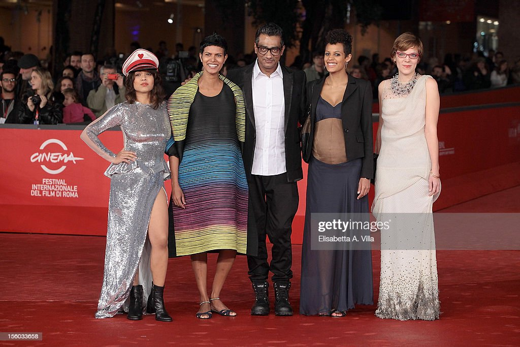 Actresses Rii Sen,Tinu Verghis, Roxanne Hauzer and director Qaushiq Mukherjee and producer Celine Loop attend 'Tasher Desh' Premiere during the 7th Rome Film Festival at Auditorium Parco Della Musica on November 11, 2012 in Rome, Italy.