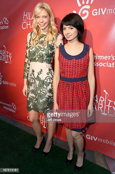 Actresses Riki Lindhome and Kate Micucci attend the Second Annual Hilarity For Charity benefiting The Alzheimer's Association at the Avalon on April...