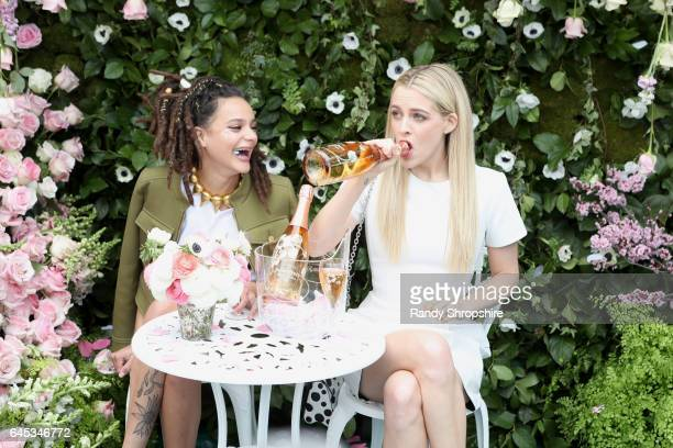 Actresses Riley Keough abd Sasha Lane attend the 2017 Film Independent Spirit Awards sponsored by PerrierJouet on February 25 2017 in Santa Monica...