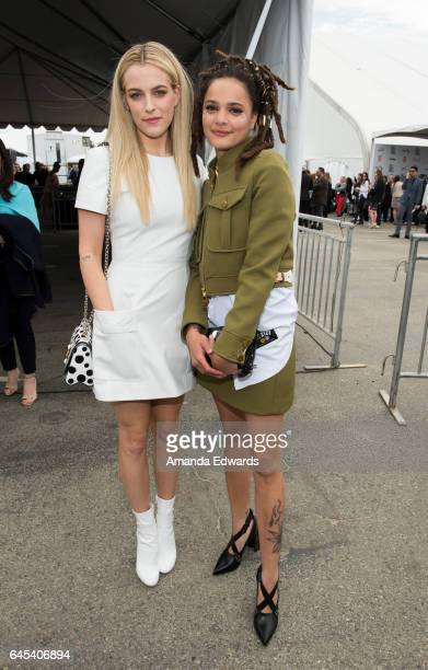 Actresses Riley Keough and Sasha Lane during the 2017 Film Independent Spirit Awards at the Santa Monica Pier on February 25 2017 in Santa Monica...