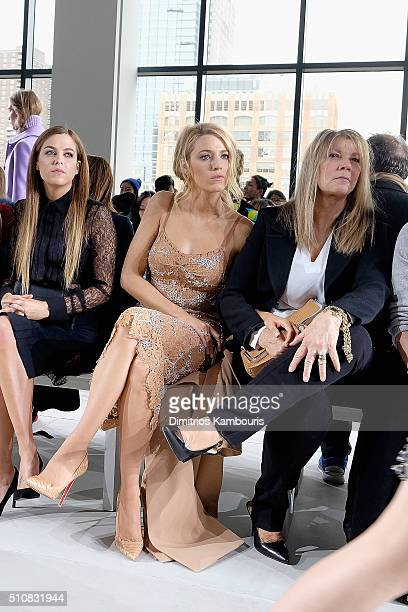 Actresses Riley Keough Blake Lively and Elaine Lively attend the Michael Kors Fall 2016 Runway Show during New York Fashion Week The Shows at Spring...
