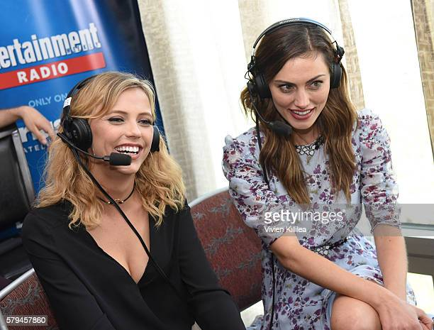 Actresses Riley Voelkel and Phoebe Tonkin attend SiriusXM's Entertainment Weekly Radio Channel Broadcasts From ComicCon 2016 at Hard Rock Hotel San...