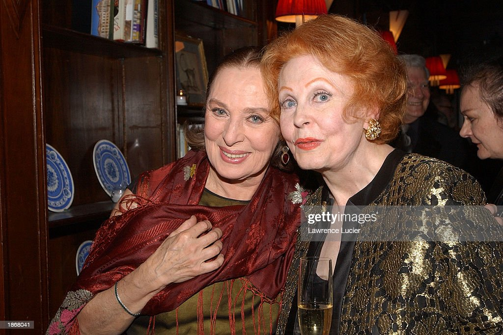 Actresses Rita Gamm (L) and Arlene Dahl attend the official Academy of Motion Picture Arts & Sciences Oscar Night Viewing Party at Le Cirque 2000 restaurant March 23, 2003 in New York City.