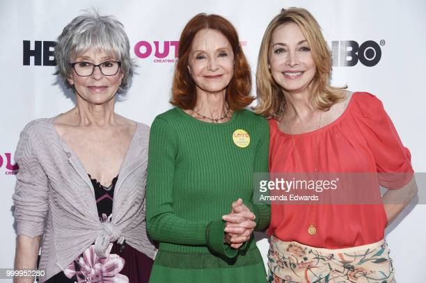 Actresses Rita Moreno Swoosie Kurtz and Sharon Lawrence arrive at the Outfest Documentary Competition Screening of 'Every Act Of Life' at the DGA...