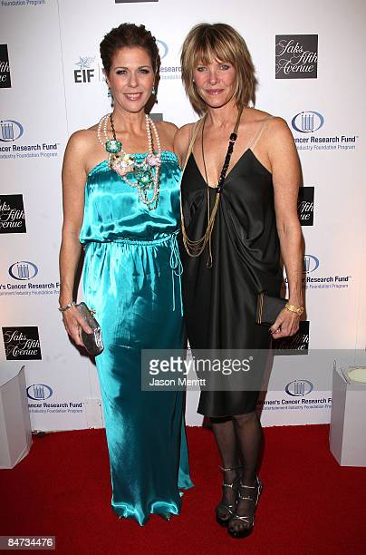 Actresses Rita Wilson and Kate Capshaw arrive at the Unforgettable Evening Benefiting The Entertainment Industry Foundation held at the Beverly...
