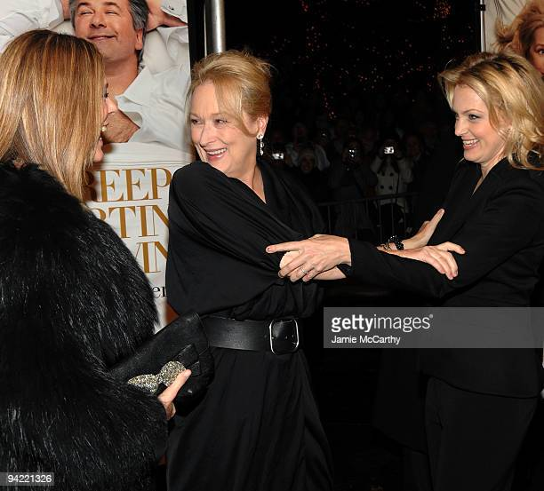 Actresses Rita Wilson Meryl Streep and Alexandra Wentworth attend the New York premiere of 'It's Complicated' at The Paris Theatre on December 9 2009...