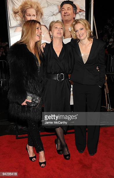 Actresses Rita Wilson Meryl Streep and Alexandra Wentworth attend the New York premiere of It's Complicated at The Paris Theatre on December 9 2009...