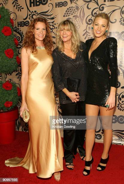 Actresses Robyn Lively Elaine Lively and Blake Lively attends HBO's post Emmy Awards reception at the Pacific Design Center on September 20 2009 in...