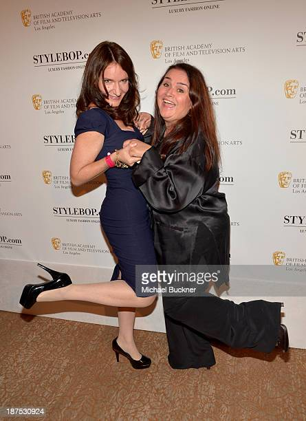 Actresses Rochelle Rose and Jacquie Barnbrook attend the 2013 BAFTA LA Jaguar Britannia Awards after party presented by BBC America at The Beverly...