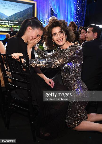 Actresses Rooney Mara and Gaby Hoffmann in the audience during The 22nd Annual Screen Actors Guild Awards at The Shrine Auditorium on January 30 2016...