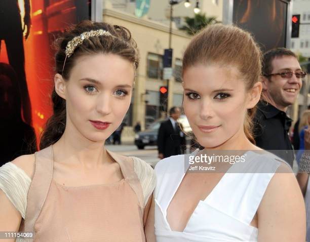 Actresses Rooney Mara and Kate Mara arrive at the Los Angeles premiere of A Nightmare On Elm Street held at Grauman's Chinese Theatre on April 27...