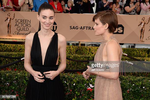 Actresses Rooney Mara and Kate Mara attend the 22nd Annual Screen Actors Guild Awards at The Shrine Auditorium on January 30 2016 in Los Angeles...