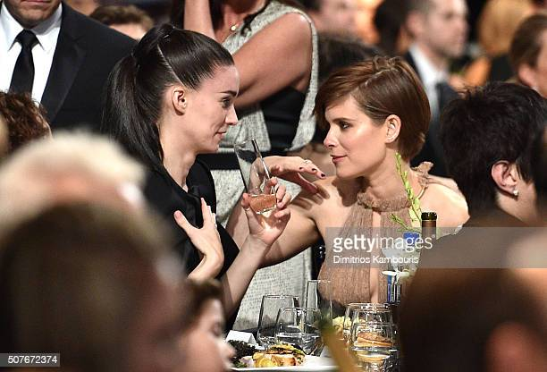 Actresses Rooney Mara and Kate Mara in the audience during The 22nd Annual Screen Actors Guild Awards at The Shrine Auditorium on January 30 2016 in...