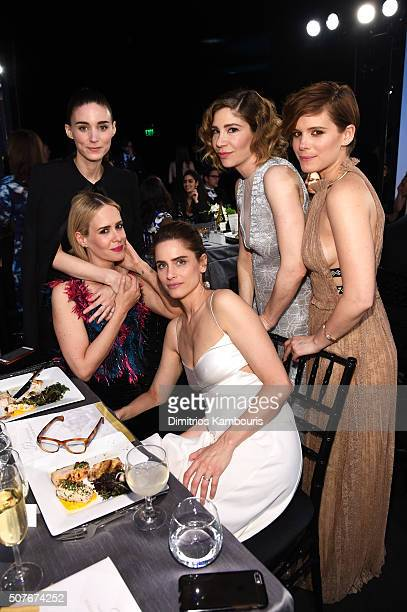 Actresses Rooney Mara Sarah Paulson Amanda Peet Carrie Brownstein and Kate Mara during The 22nd Annual Screen Actors Guild Awards at The Shrine...