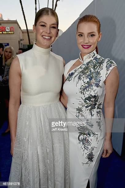 Actresses Rosamund Pike and Jessica Chastain attend the 20th annual Critics' Choice Movie Awards at the Hollywood Palladium on January 15 2015 in Los...