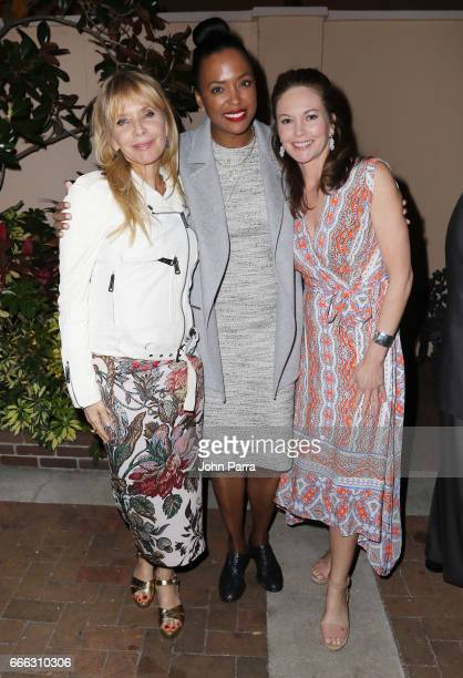 Actresses Rosanna Arquette Aisha Tyler and Diane Lane attend the closing night ceremony and screening of 'Paris Can Wait' during the 2017 Sarasota...