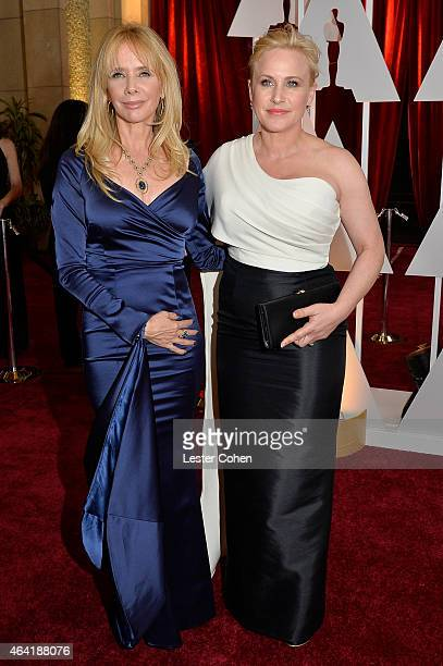 Actresses Rosanna Arquette and Patricia Arquette attend the 87th Annual Academy Awards at Hollywood & Highland Center on February 22, 2015 in...